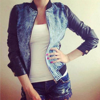 DENIM CASUAL LOOSE COAT