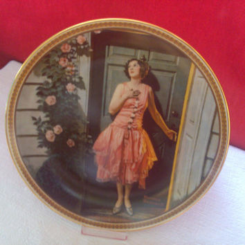 "NORMAN ROCKWELL'S Rediscovered Women ""Standing in the Doorway"" Rockwell Collectible Porcelain Plate Fine China, Free Shipping!!!"