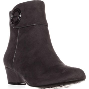 Impo Goya Wedge Ankle Boots, Steel Grey, 8 US