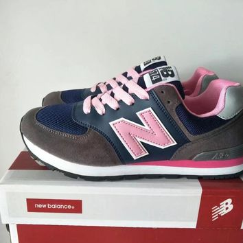 New Balance 574 Women Sport Casual Multicolor N Words Sneakers Running Shoes-2