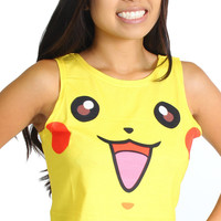 Pokemon Pikachu Yellow Double Sided Rave Crop Top