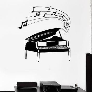 Wall Stickers Piano Classical Music Notes Art Mural Vinyl Decal Unique Gift (ig1922)