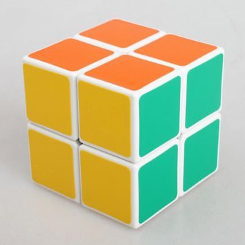 Dull Polish 2 Layers Cube Puzzle Toy Magic Cube 2x2x2 Profissional Match Cube Toy Children Kids Educational Gift Toy Biginner