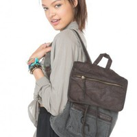 Brandy ♥ Melville |  Washed Leather Flap Backpack - Backpacks - Bags - Accessories