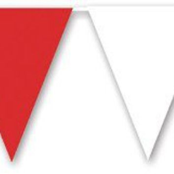 Red, White & Blue Pennant Banner - All-Weather #BWR70 - CASE OF 24