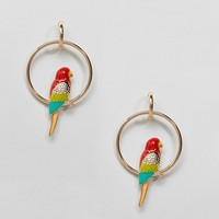 ASOS Parrot on A Perch Earrings at asos.com