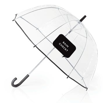 """Clear Umbrella With """"Rain Check?"""" by Kate Spade New York - FINAL SALE"""