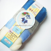wool only, Sky color series blue white grey wool set, Pastel colors, needle felting wool, diy fun, id1370105, diy, gift for crafter