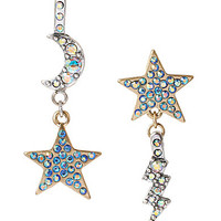 Betsey Johnson Stargazer Moon Drop Earrings | Dillards.com