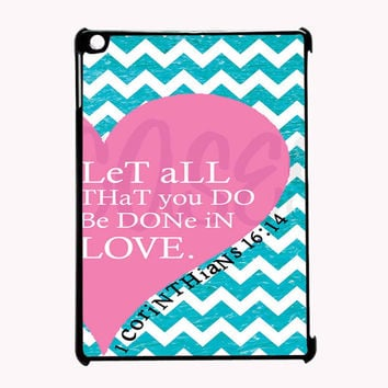 Pink Heart Chevron Bible 1 Corinthians FOR IPAD 2/3/4 CASE *PS*