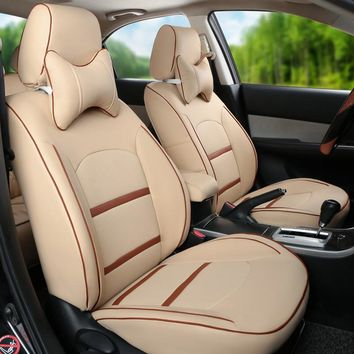 Cute Car Seat Covers Fit for Toyota Alphard 2012 Car Seat Cover Set PU Leather Car Seats Protector Styling Seat Cushion Covers