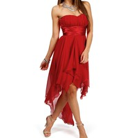 Tierra-Red Homecoming Dress