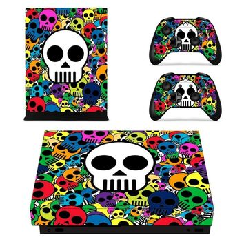 X0158 Game accessories Skin Sticker for Microsoft Xbox One X Console and 2 Controllers skins Stickers for XBOXONE X Enhanced