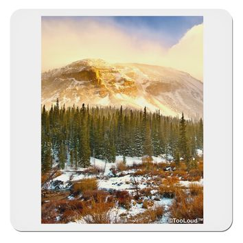 "Nature Photography - Mountain Glow 4x4"" Square Sticker by TooLoud"
