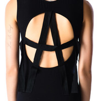 Lip Service Anarchy Twill Back Dress Black