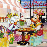 Minnie Mouse and Daisy Duck Ice Cream Parlour Prints at AllPosters.com
