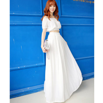 Two-piece Set Women Chiffon Beach Set