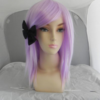 SALE // Medium Straight Layered Wig - Beautiful Luscious Hair, Lavender Wig, Cosplay Wig, Costume Wig, Pastel Purple