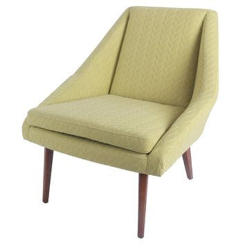 Enzo Fabric Accent Chair, Lime Leafage Green