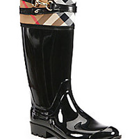 Burberry - Elderford Check Rain Boots - Saks Fifth Avenue Mobile