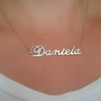 Custom Name Necklace Gift wedding sorority bridesmaid