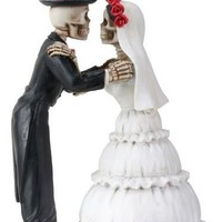 Skeletons Kiss Wedding Cake Topper Day of the Dead Couple