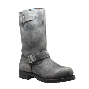 Ride Tec - Men's Stonewashed Engineer Pull On Biker Boot