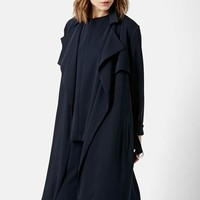 Women's Topshop 'Waterfall' Belted Duster,