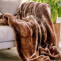 Faux Puma Fur Throw Blanket - Urban Outfitters