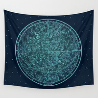 Zodiac Star Map Tapestry, Vintage Star Map Large Size Wall Art, Astronomy Decor, Office Decor, Beach Hut Decor,Astrology,Star Sign,Horoscope