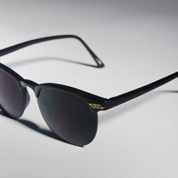 1980s Black & Gold Clubmaster Classic Sunglasses A11 by Awake87