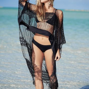 Reggae Beach Lace Cover Up