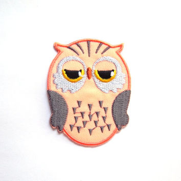 Owl/ Family/ Pink/ Iron on Patch/ Etsy/ Patches/ Applique/Embroidery/ Kids