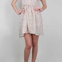 Hampden Clothing - Capucine Fuzzy Floral Dress in DRESSES