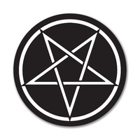 Pentagram 4x4 Round Sticker