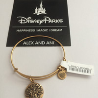 Disney Parks 2017 Animal Kingdom Gold Finish Alex Ani Bracelet New with Tags