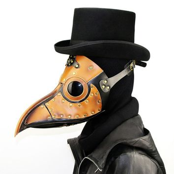 Halloween Mask Full Face Unisex Steampunk Plague Bird Mask Cosplay Masquerade Party Stage Performance LM516