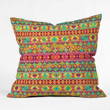 Sharon Turner Acid Weave Outdoor Throw Pillow