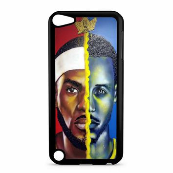 Lebron James Vs Steph Curry Painting iPod Touch 5 Case