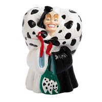 Cruella De Vil Sculpted Ceramic Cookie Jar