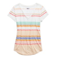 Aerie Striped V-Neck T-Shirt