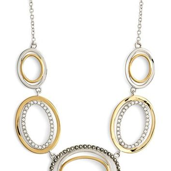 Women's Judith Jack Two Tone Circle Frontal Necklace - Silver/ Gold