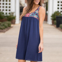 Fun And Done Dress, Navy