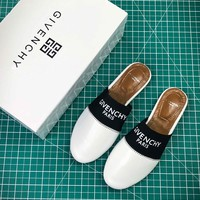 Givenchy Paris Logo White Sandals - Best Online Sale