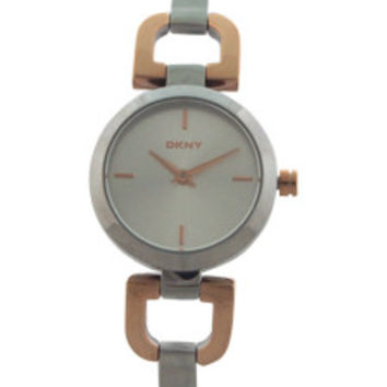 NY2137 Two-Tone Stainless Steel Bracelet Watch by DKNY (Women)