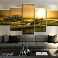 Scenic Golf Sunset Canvas Set