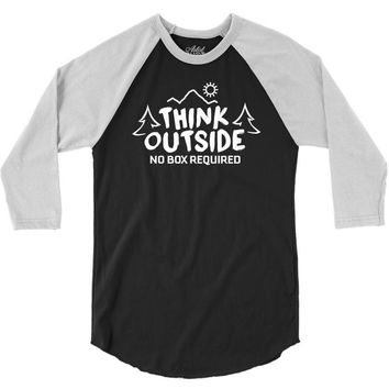 Think Outside No Box Required 3/4 Sleeve Shirt