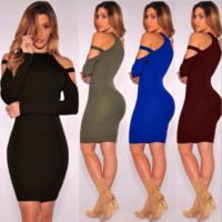 Strappy Bodycon Mid Dress B0014431