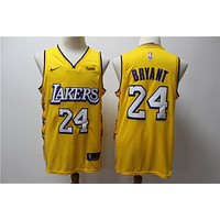 Lakers 24 New Yellow City Jersey 2019-2020