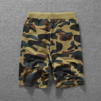 Casual Pants Camouflage Print Couple Cotton Shorts [10182864071]